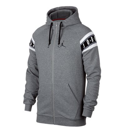 Толстовка Jordan Jumpman Air HBR Full-Zip серая