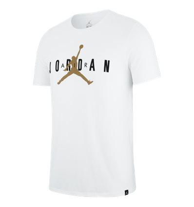 Футболка Jordan JSW Jumpman Air бело -золотая