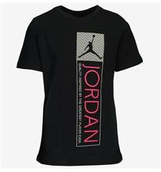 Детская / Женская футболка Jordan Retro 12 Tag черная с розовым